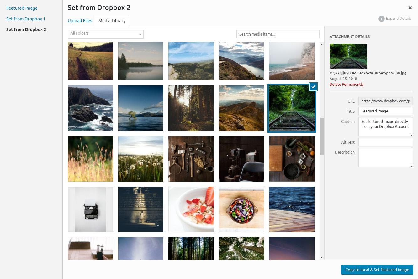 Wordpress Dropbox Plugin - RML for Dropbox - Remote Media